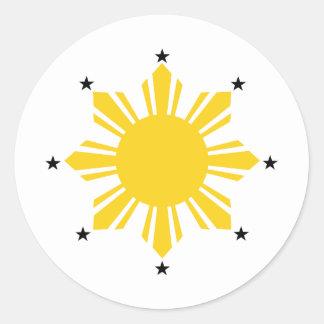 Philippines Sun | Filipino Sun | PI Sun Sticker