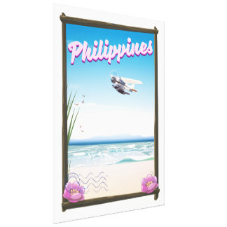 Philippines Travel poster Canvas Print