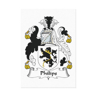 Philips Family Crest Canvas Print