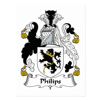 Philips Family Crest Postcard