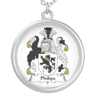 Philips Family Crest Silver Plated Necklace