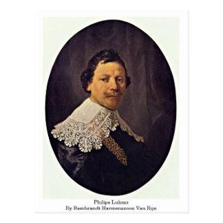 Philips Lukasz By Rembrandt Harmenszoon Van Rijn Postcard