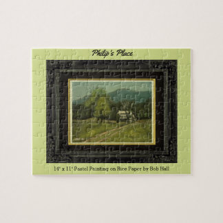 Philip's Place, A Pastel Painting by Bob Jigsaw Puzzle