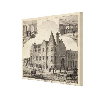 Phillips County Bank, Phillipsburg, Kansas Stretched Canvas Prints