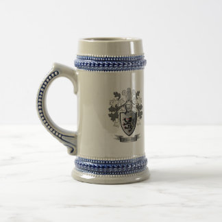 Phillips Family Crest Coat of Arms Beer Stein