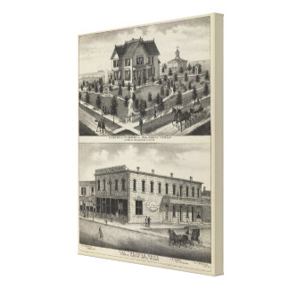 Phillipsburg Traders Bank, Kansas Stretched Canvas Print