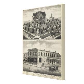 Phillipsburg Traders Bank, Kansas Stretched Canvas Print