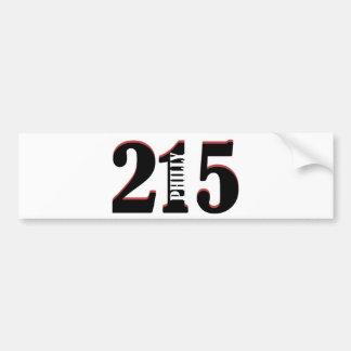 Philly 215 bumper sticker