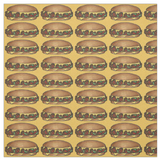 Philly Cheese Steak Sandwich Fabric