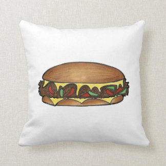 Philly Cheesesteak Philadelphia Sandwich Pillow