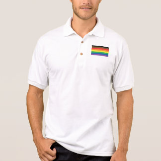 Philly Expanded Gay Pride Flag Rainbow Emblem Polo Shirt