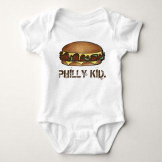 PHILLY KID Philadelphia PA Cheesesteak Sandwich Baby Bodysuit
