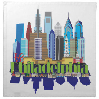 Philly New Icon Printed Napkins