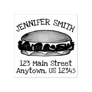 Philly PA Philadelphia Cheese Steak Sandwich Food Rubber Stamp
