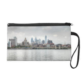 Philly skyline 2 wristlet clutches