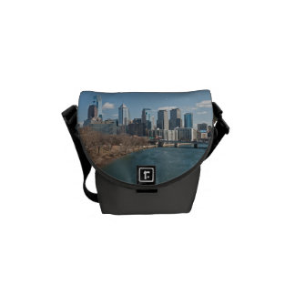 Philly skyline courier bag