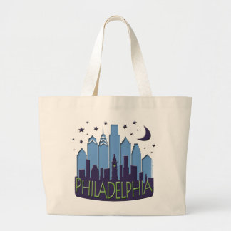 Philly Skyline mega cool Large Tote Bag