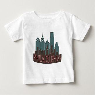 Philly Skyline newwave chocolate Baby T-Shirt