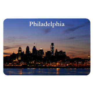 Philly Sunset Skyline Premium Magnet