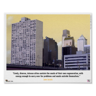 """""""Philly Toons"""" Jane Jacobs Poster"""
