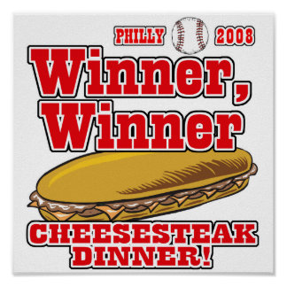 Philly Winner Cheesesteak Dinner Poster