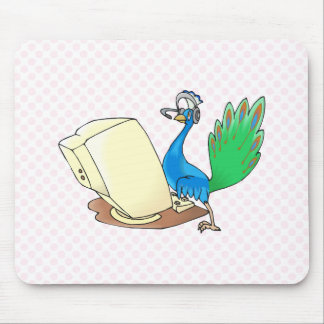 Philo Peacock Mouse Pad