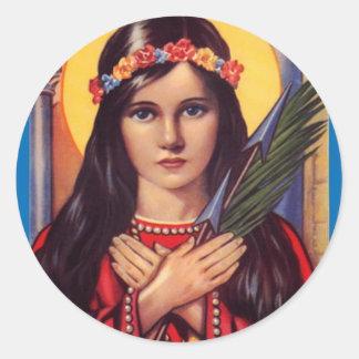 Philomena Round Sticker