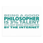 Philosopher 3% Talent Post Card