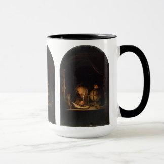 Philosopher Alchemist Studying by Candlelight Mug