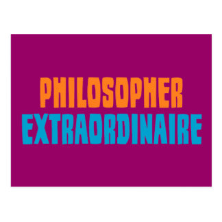 Philosopher Extraordinaire Postcard
