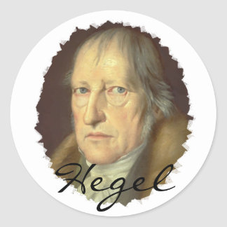 Philosopher Georg Hegel Classic Round Sticker