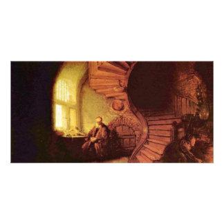 Philosopher In Meditation. By Rembrandt Van Rijn Photo Card Template