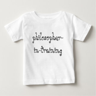 Philosopher in Training baby shirt