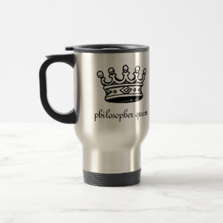 Philosopher Queen (blk crwn)travel mug(right-hand) Travel Mug