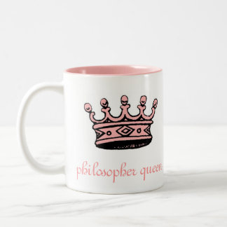 Philosopher Queen (pnk crwn)pink 2tone(right-hand) Two-Tone Coffee Mug
