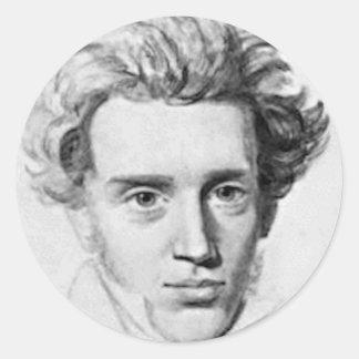 Philosopher Soren Kierkegaard Classic Round Sticker