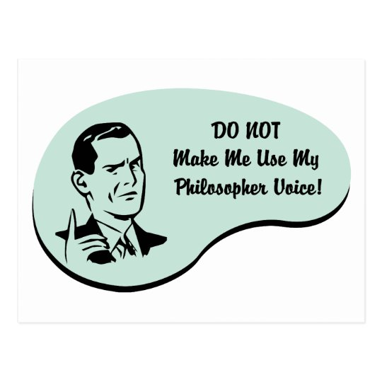 Philosopher Voice Postcard