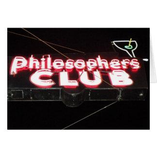 Philosopher's Club Card
