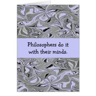 Philosophers do it joke card