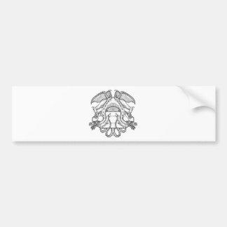 Philosopher's Stone Dragon Emblem Bumper Sticker