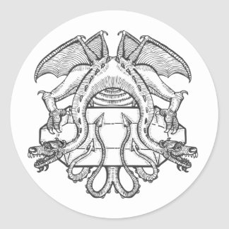 Philosopher's Stone Dragon Emblem Round Sticker