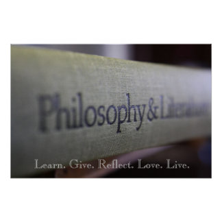 Philosophy and Literature Poster