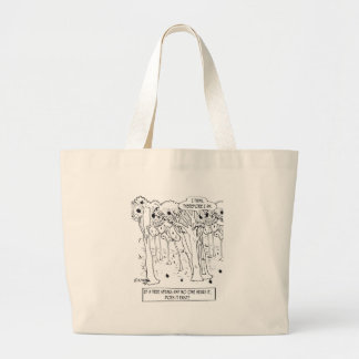 Philosophy Cartoon 9483 Large Tote Bag