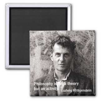 Philosophy is not a theory but an... square magnet