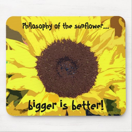 Philosophy of the sunflower... mousepads