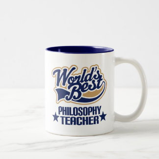 Philosophy Teacher Gift (Worlds Best) Two-Tone Coffee Mug