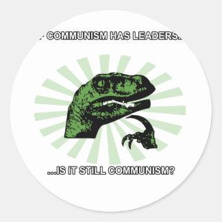 Philosoraptor Communism Classic Round Sticker
