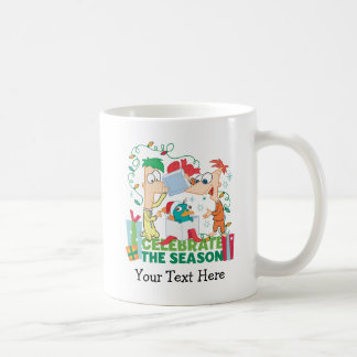 Phineas and Ferb Celebrate the Season Coffee Mug