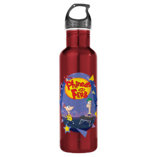 Phineas and Ferb Disney 710 Ml Water Bottle