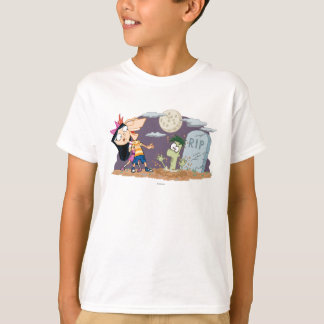 Phineas and Ferb in Graveyard Tee Shirts